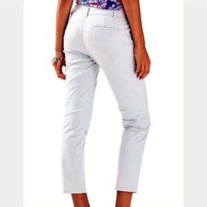 Lilly Pulitzer grey cropped pants Shana crop